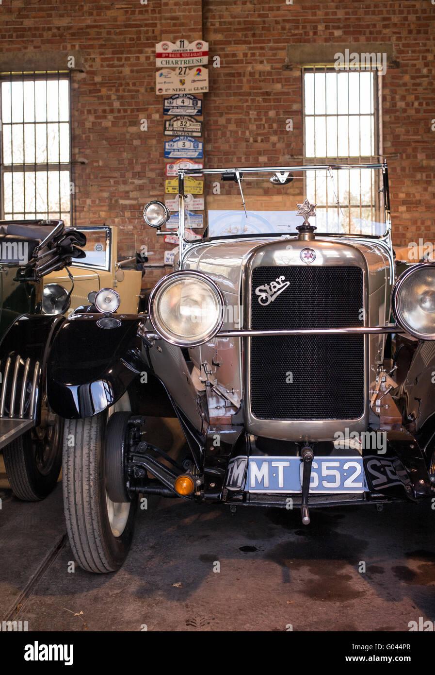 Vintage car restoration workshop at Bicester Heritage Centre Stock ...