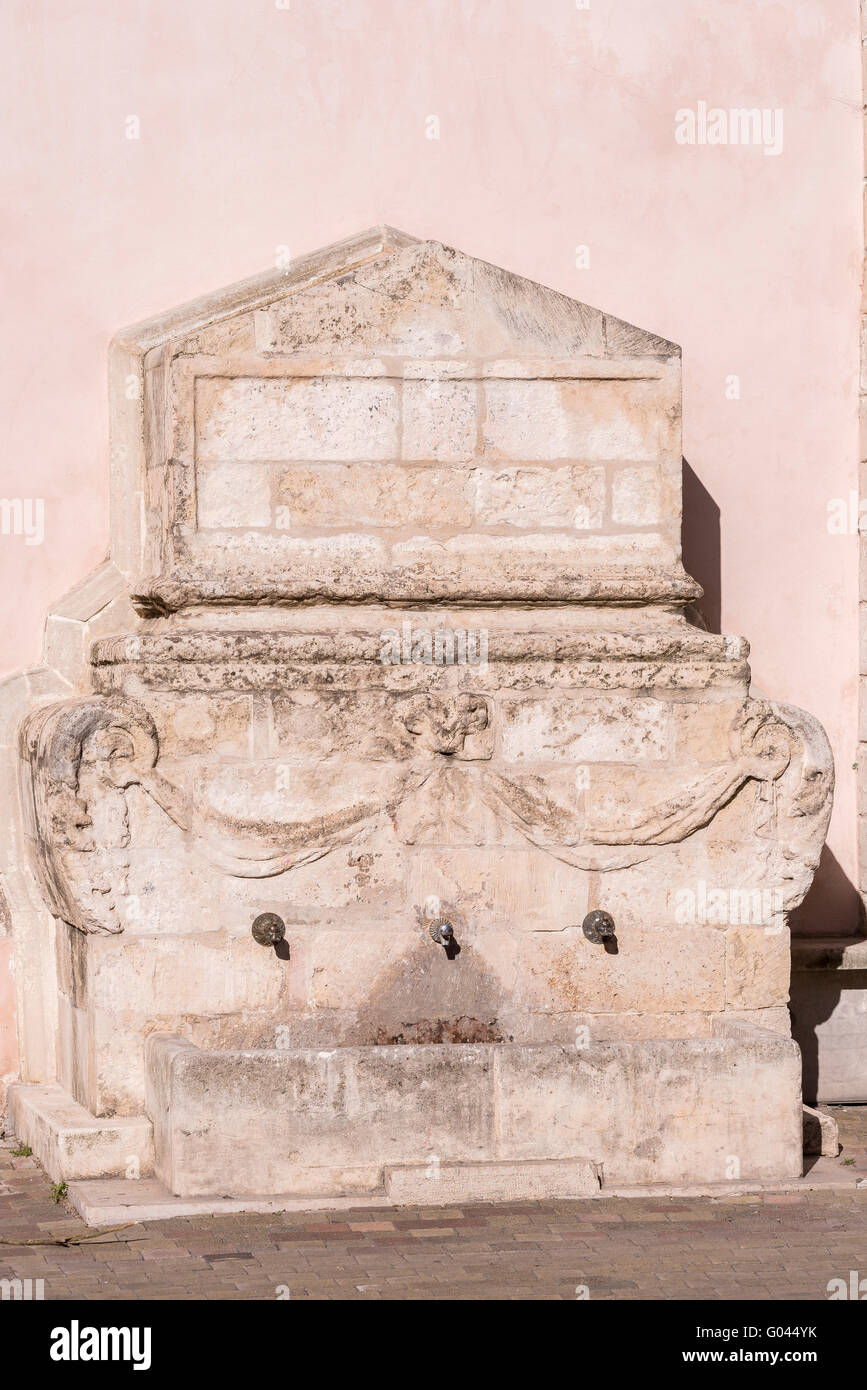 Fontaine Place Mirabeau Martigues Provence 13 France - Stock Image