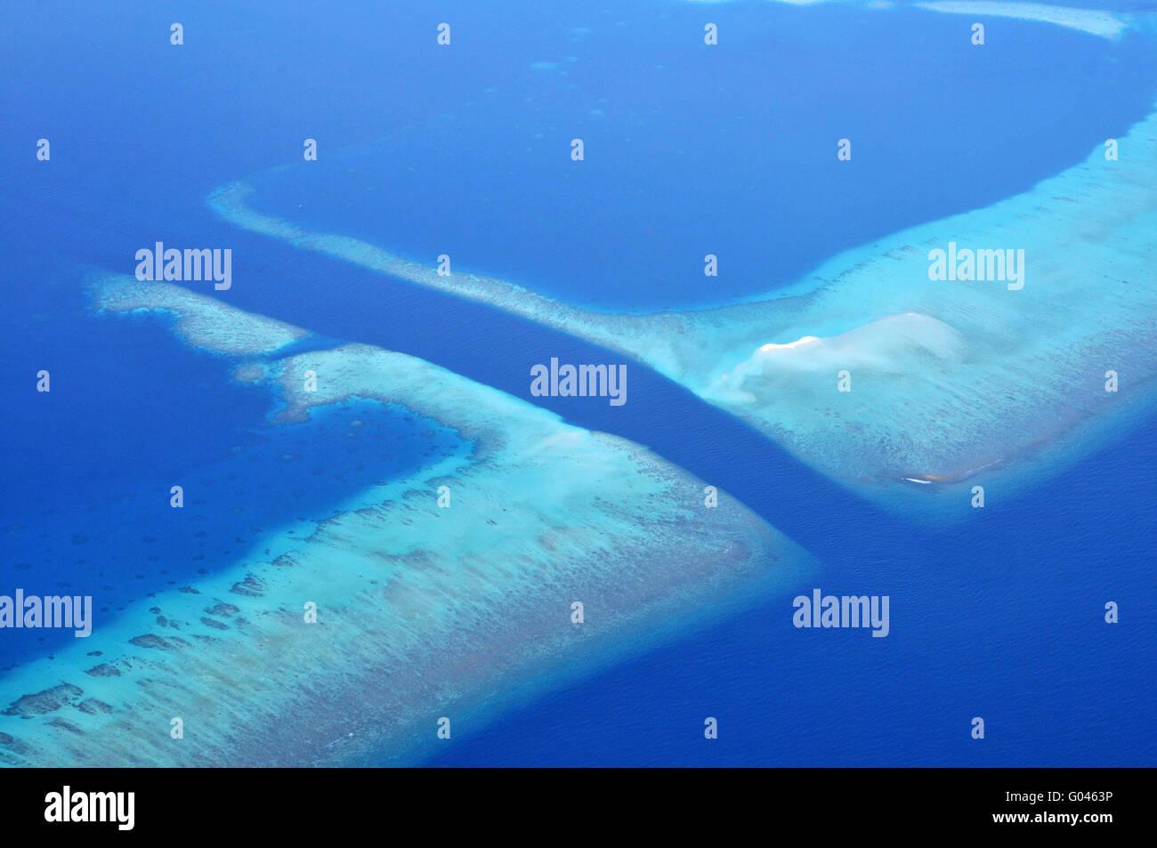 Canal, Meemu Atoll, Maledives / Mulaku Atoll - Stock Image
