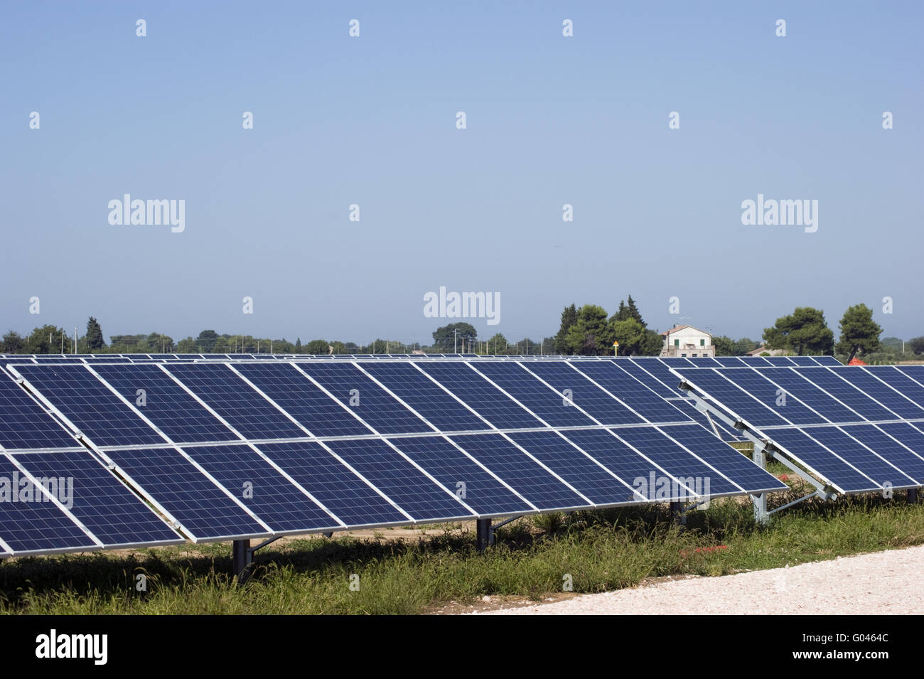 energy from sun panels - Stock Image