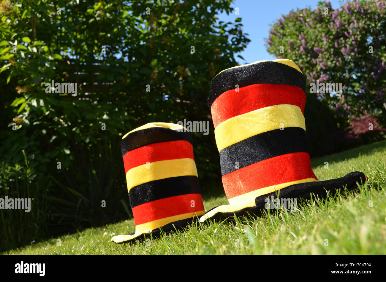 The german people makes a football-party - Stock Image