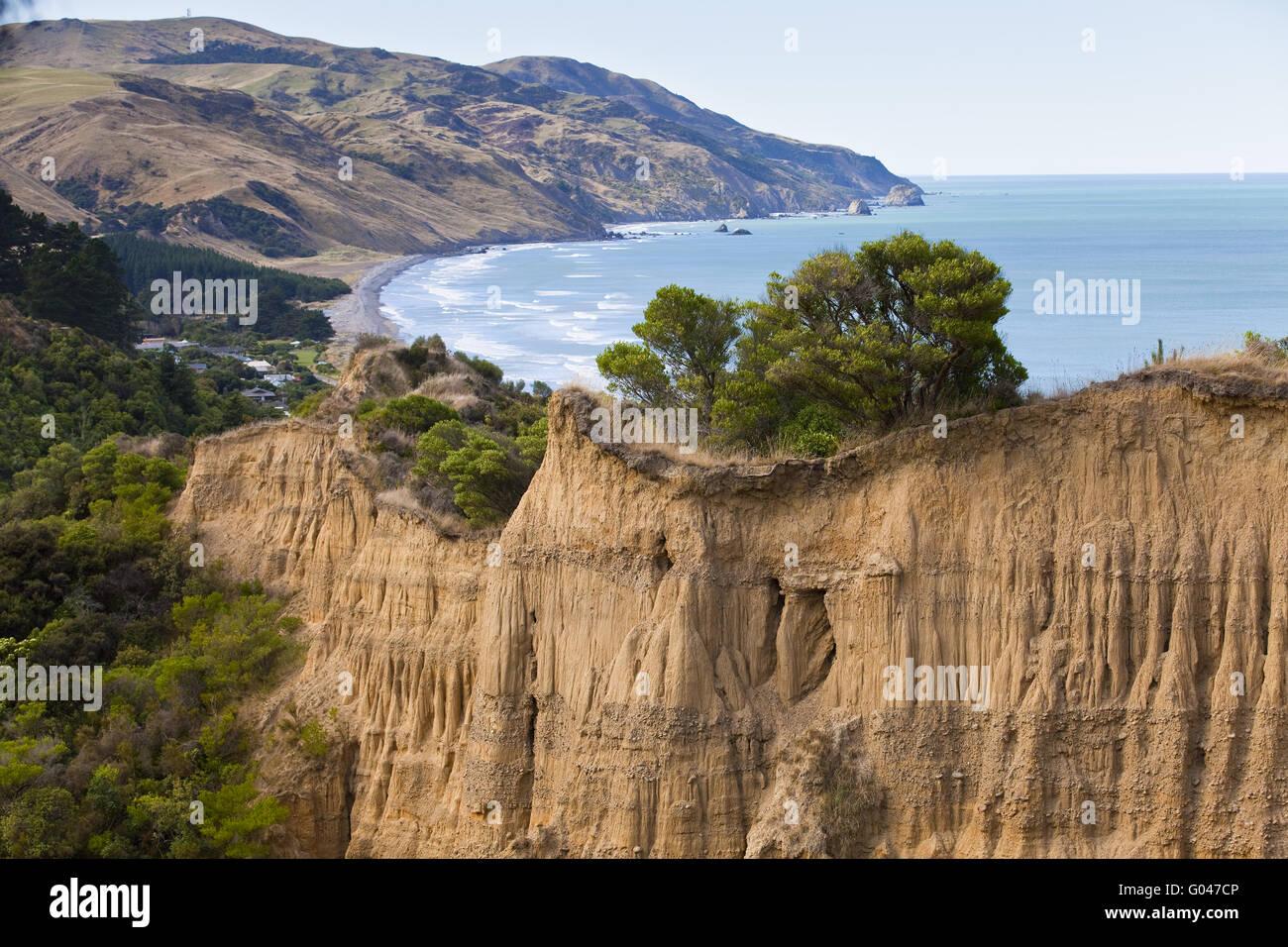 Grounderosion, Newzealand - Stock Image