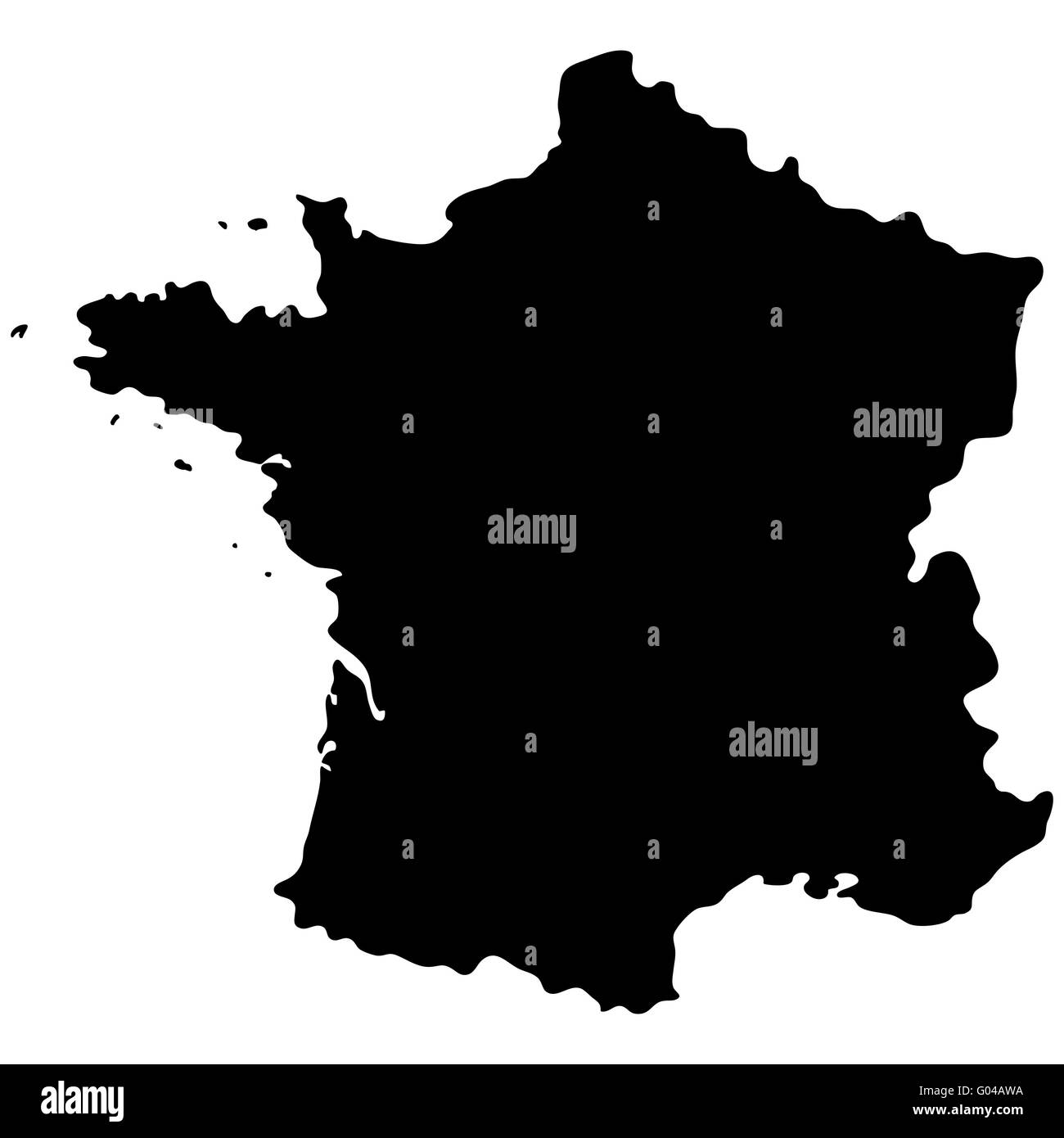 Map of France - Stock Image