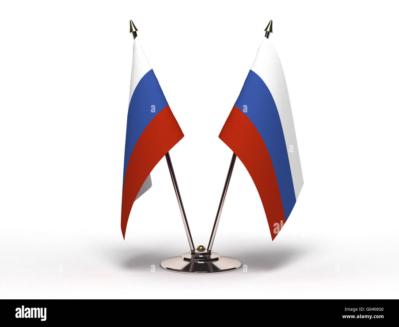 Miniature Flag of Russia (Isolated) - Stock Image