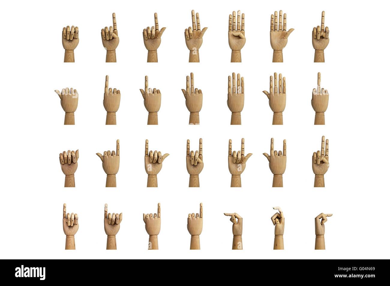 Hand signals - Stock Image