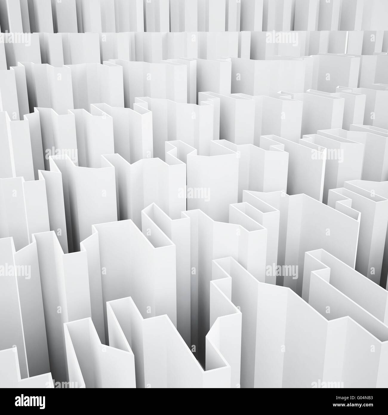 white acute angled abstraction as a background - Stock Image