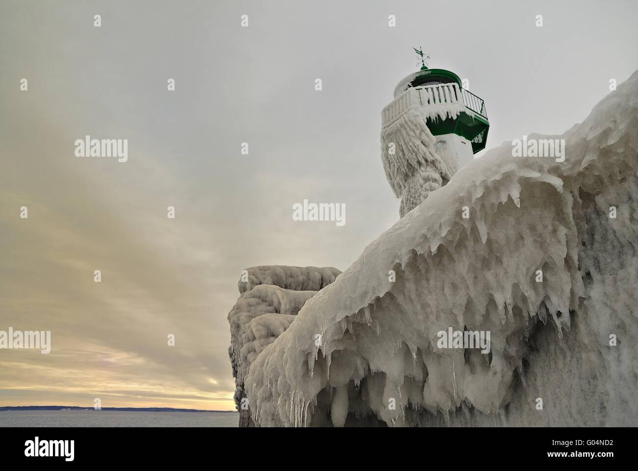 lighthouse island rügen - Stock Image