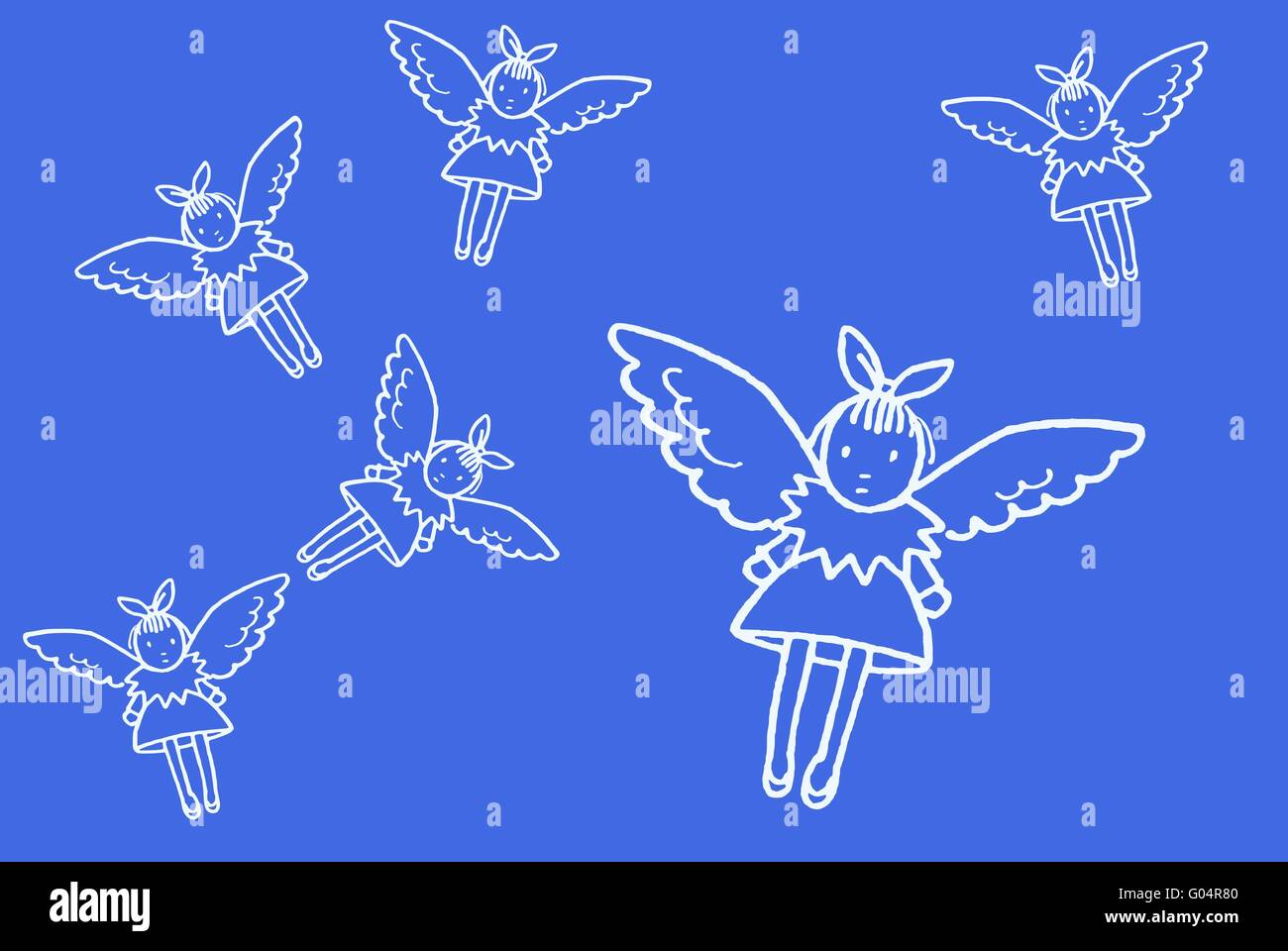 A pattern of funny angeles - Stock Image
