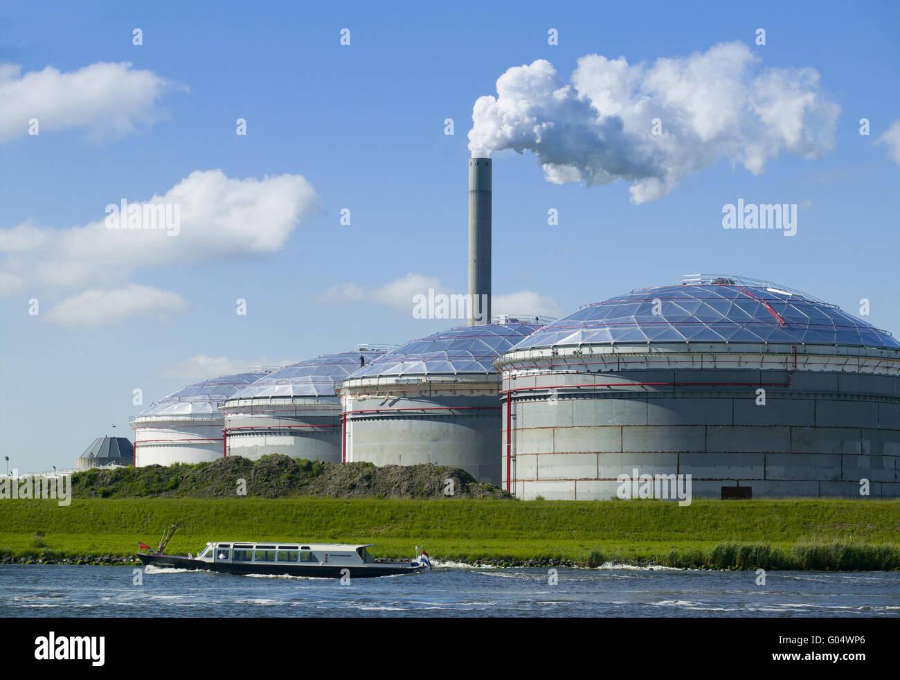 Biogas powerplant - Stock Image