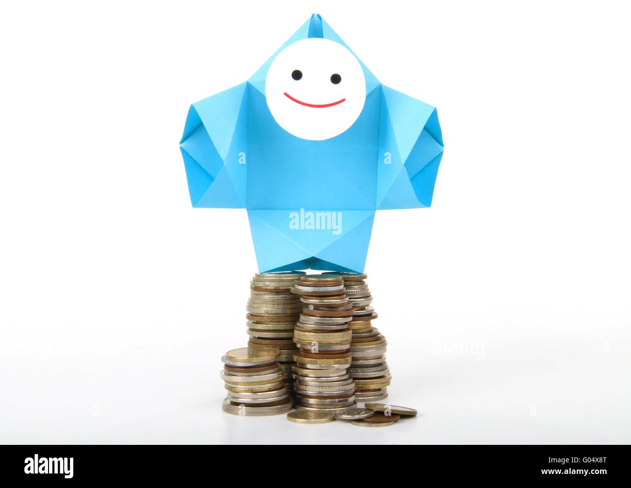 Conceptual image of money, earnings, and savings - Stock Image