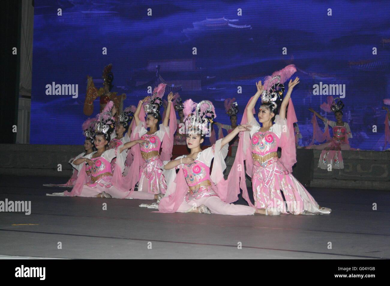 theatre of dancing in Xi'an / Xian, China - Stock Image