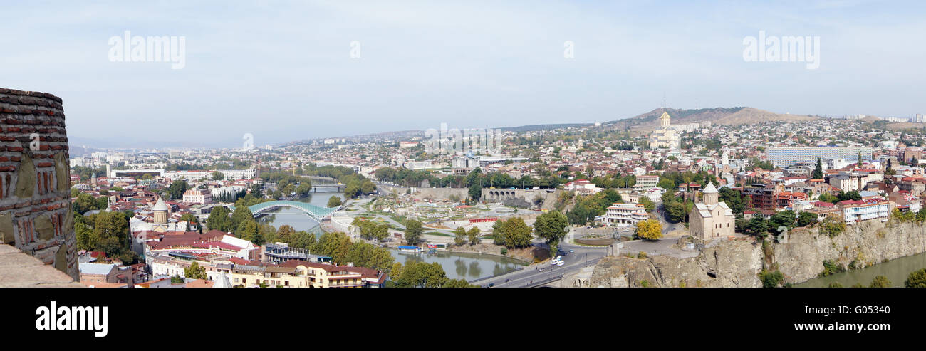 Churches and domes of Tbilisi, view to historical part of the capital of Republic of Georgia Stock Photo
