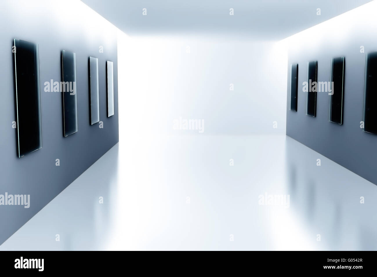 Empty Showroom With Glass Frames On The Walls Stock Photo 103375183