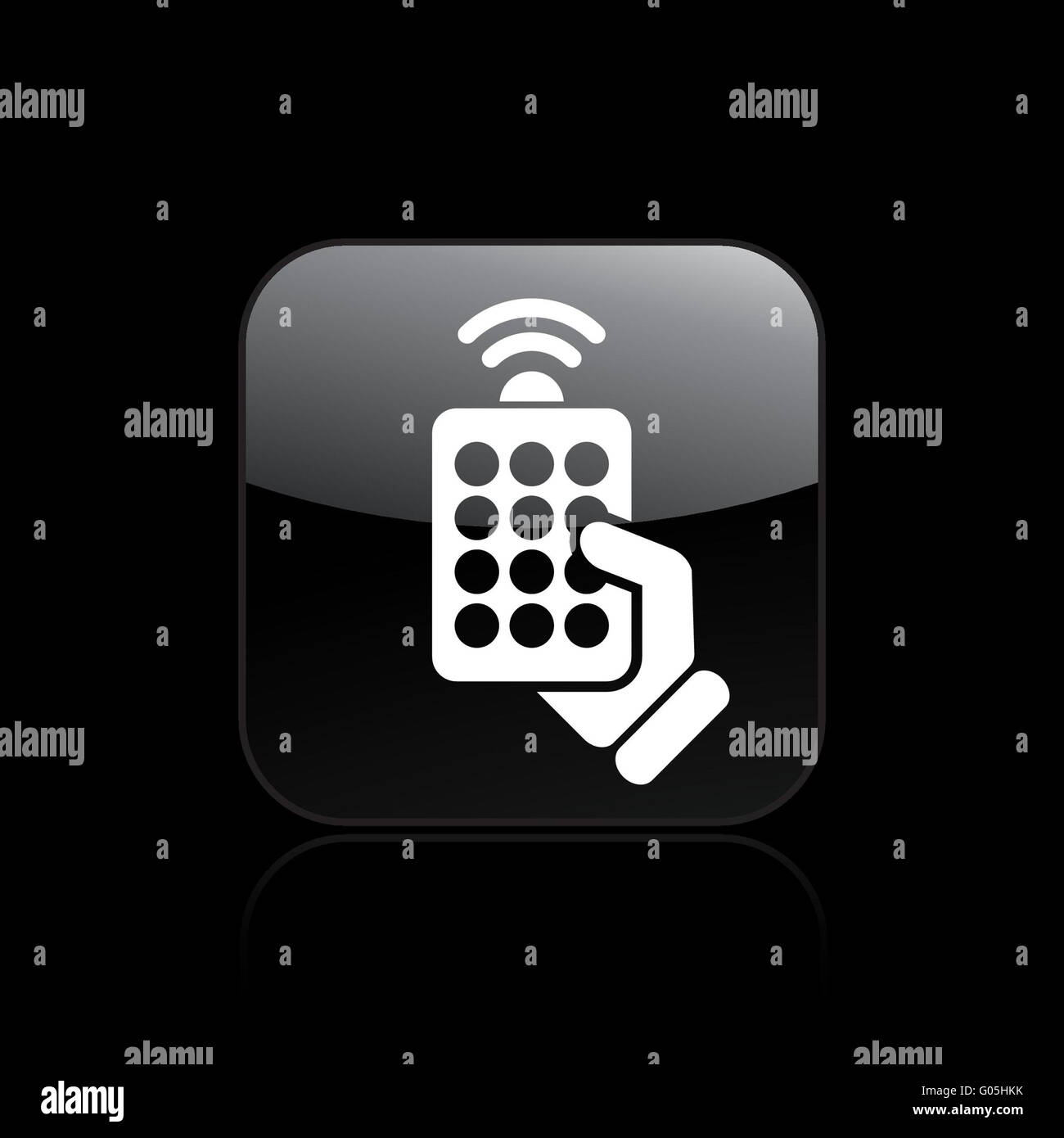 Vector illustration of single remote icon - Stock Image