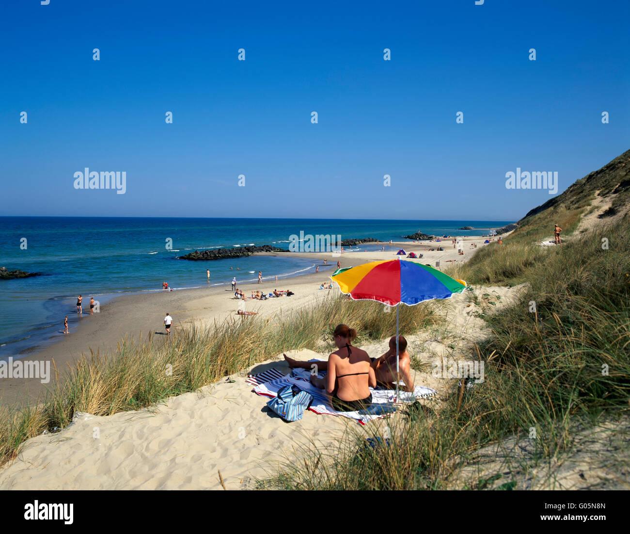 Loenstrup beach,  northern Jutland, Denmark, Scandinavia, Europe - Stock Image