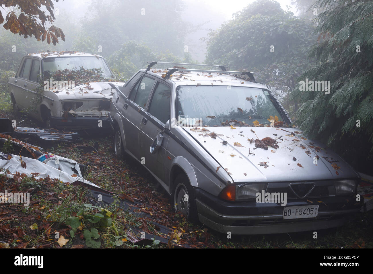 Abandoned car - Stock Image
