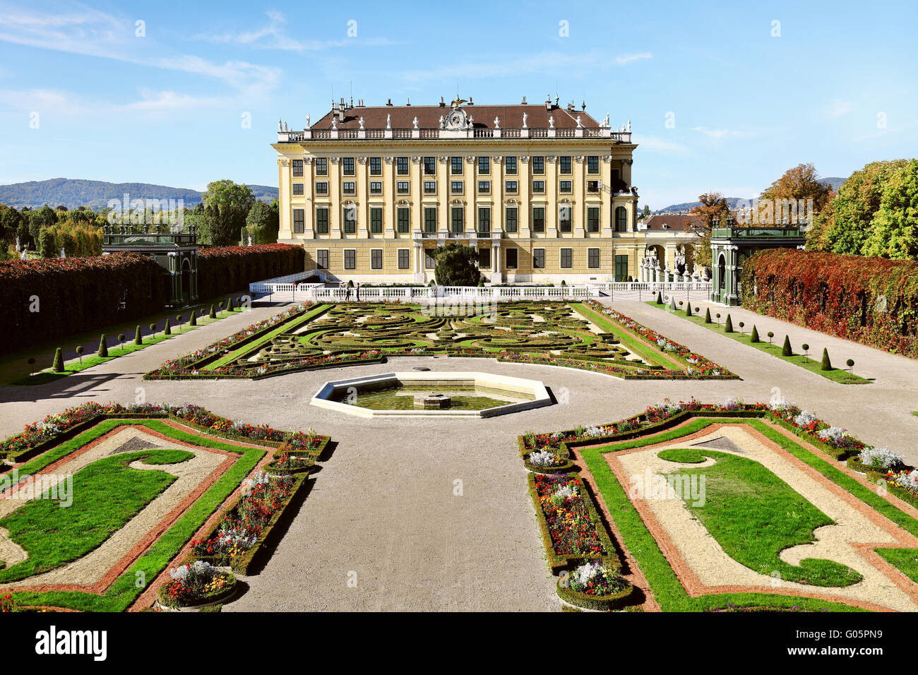 Beautiful Schonbrunn Palace in Vienna, Austria Stock Photo