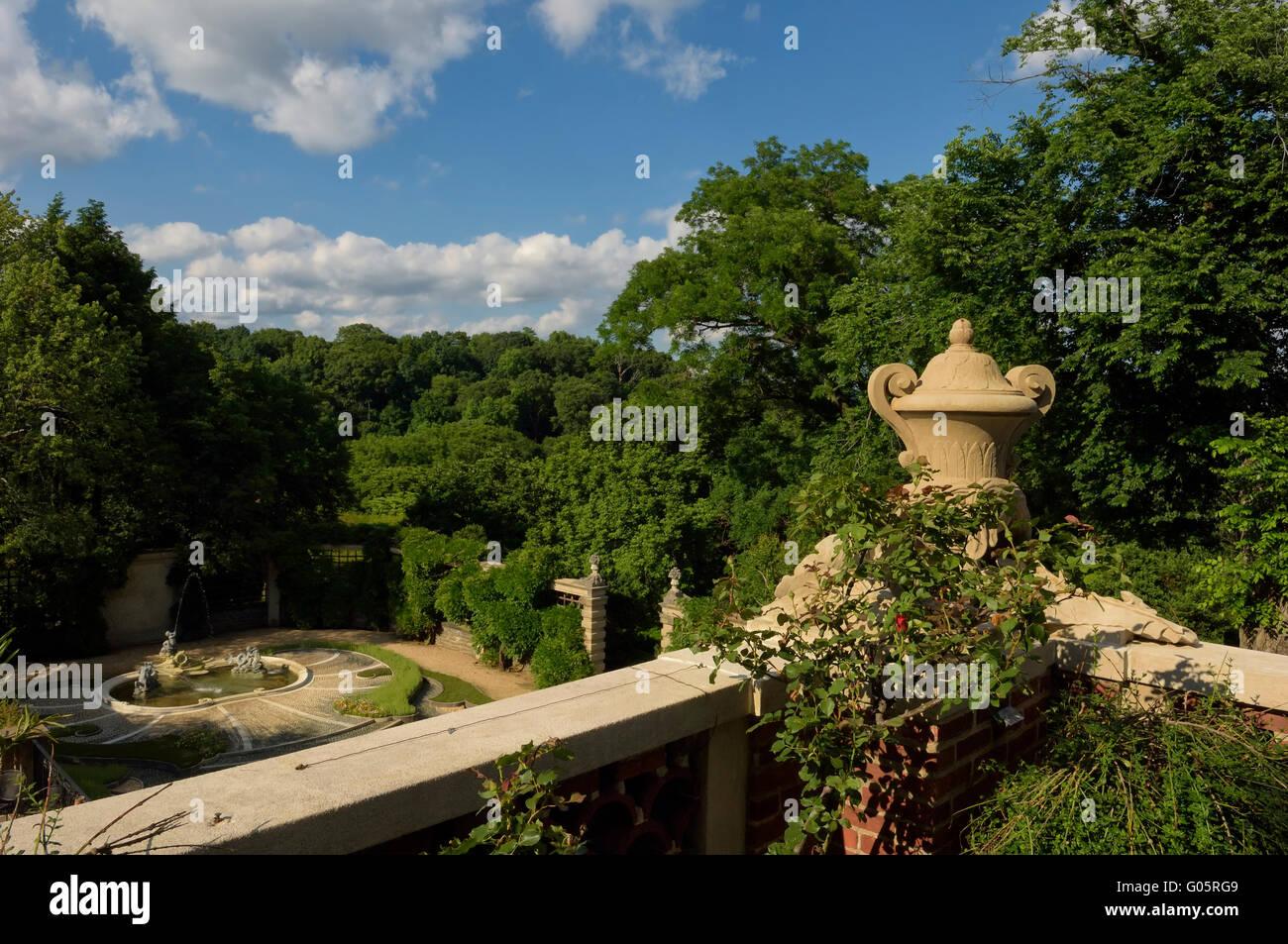 The Gardens at Dumbarton Oaks. Washington, DC. USA - Stock Image