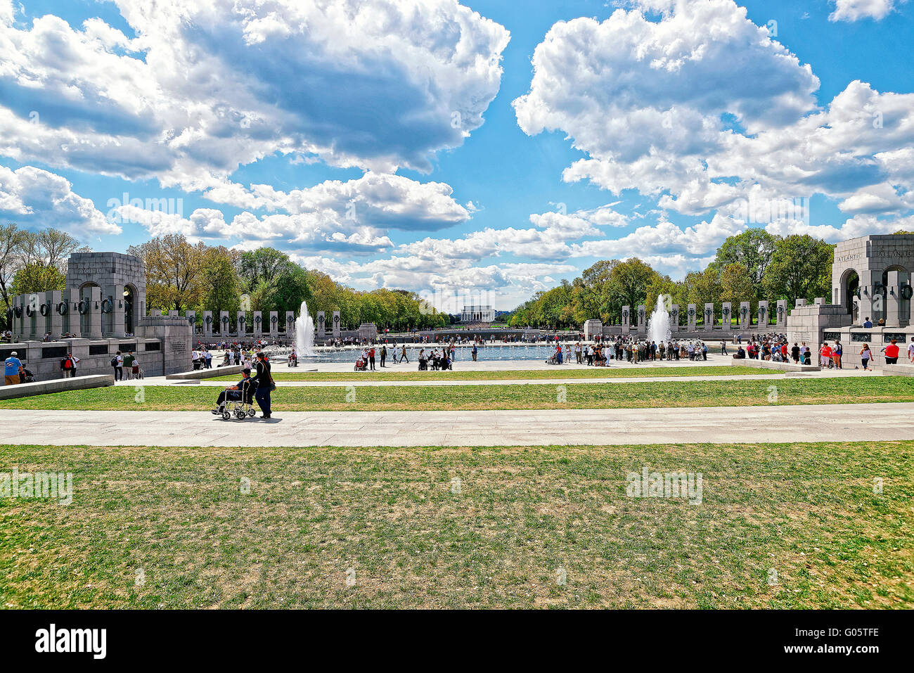 Washington DC, USA - May 2, 2015: War Veterans and guardians of Honor Flight nonprofit organization - Stock Image
