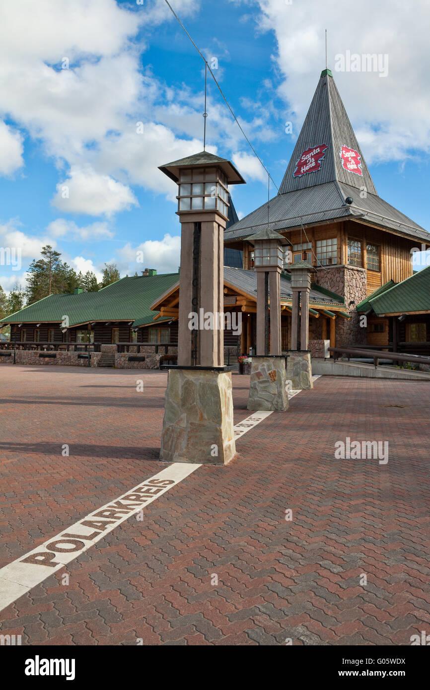 sign marking arctic circle finland stock photos sign marking