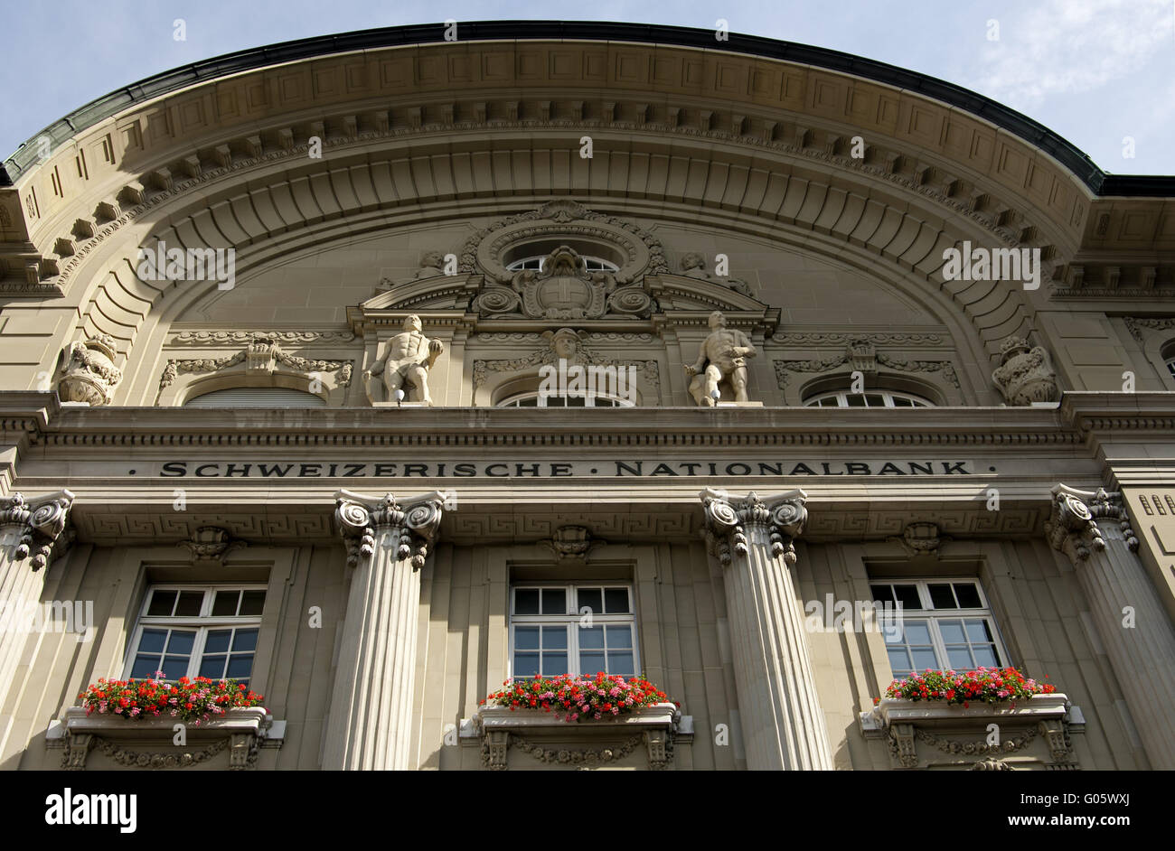 Headquarters of the Swiss National Bank, Bern - Stock Image