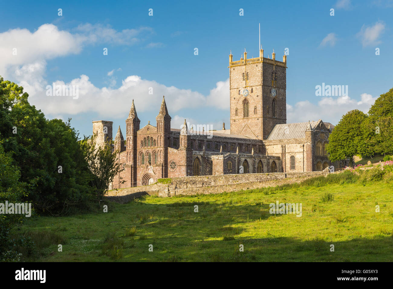 St Davids Cathedral - Pembrokeshire - Stock Image