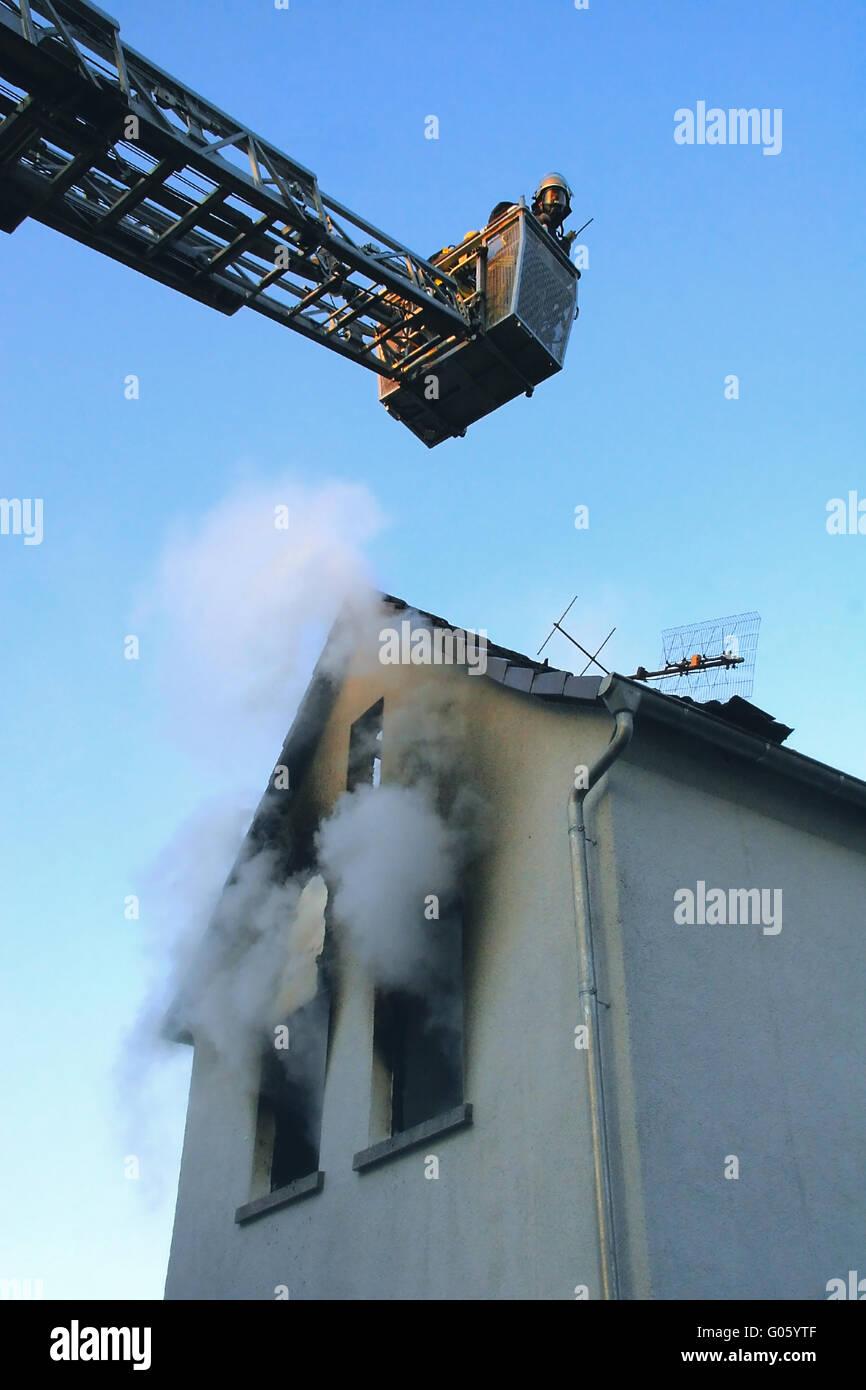 trick ladder - Stock Image