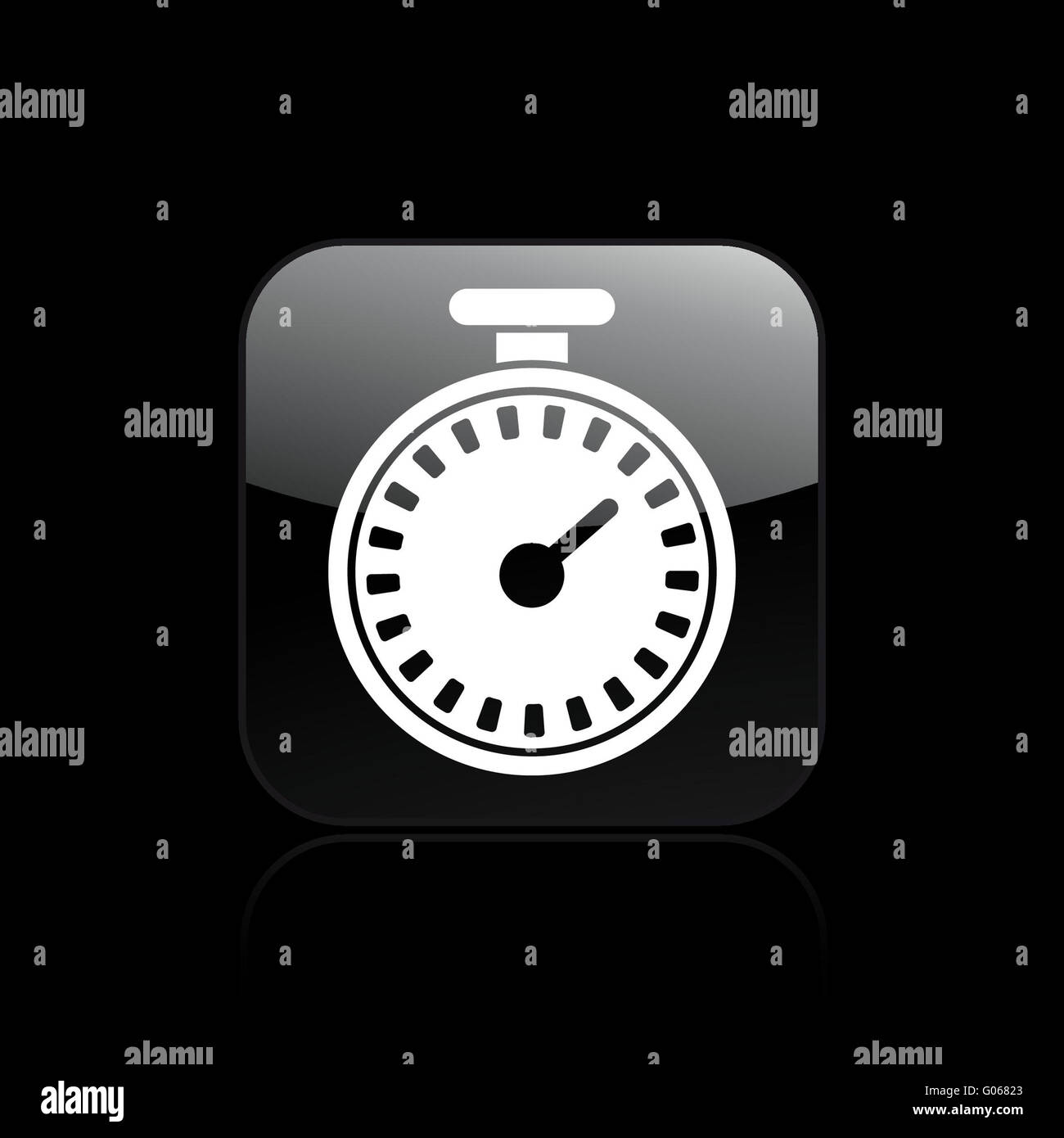Vector illustration of isolated chronometer icon - Stock Image