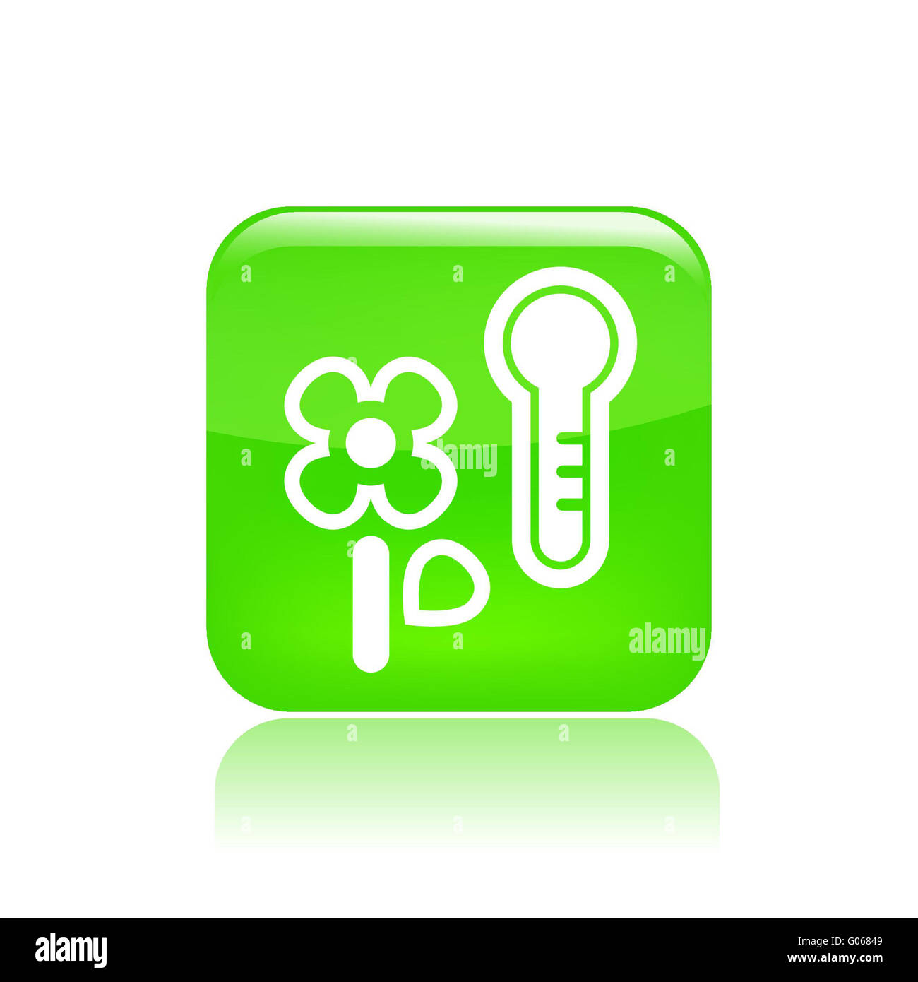 Vector illustration of temperature flower icon - Stock Image