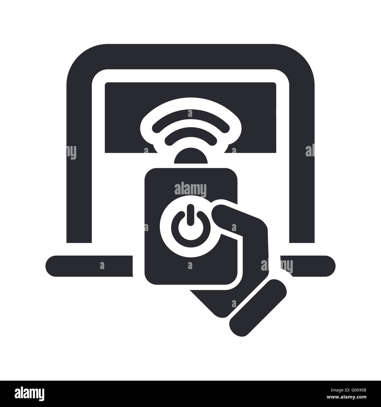 Vector illustration of isolated remote parkig icon - Stock Image