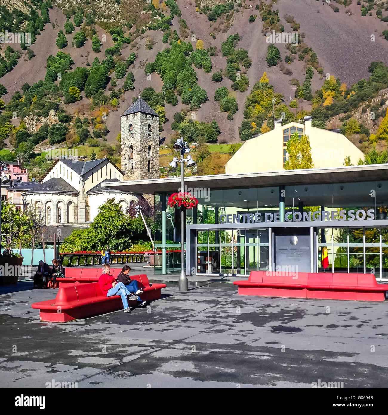 Centre de Congressos. Andorra la Vella. Andorra - Stock Image