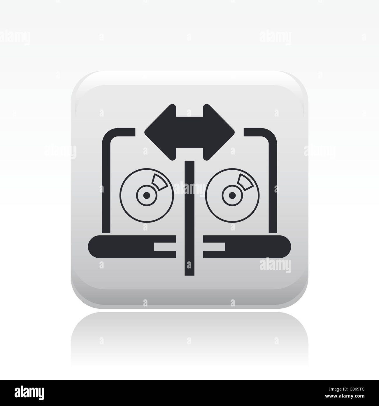 Vector illustration of single share pc icon - Stock Image