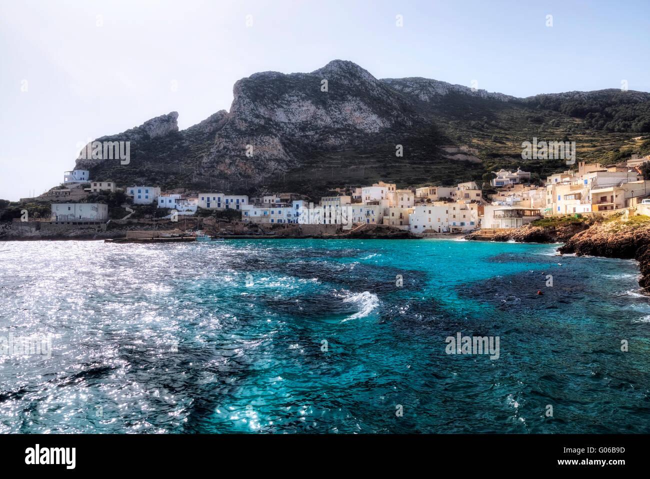 Levanzo, Aegadian Islands, Trapani, Sicily, Italy - Stock Image