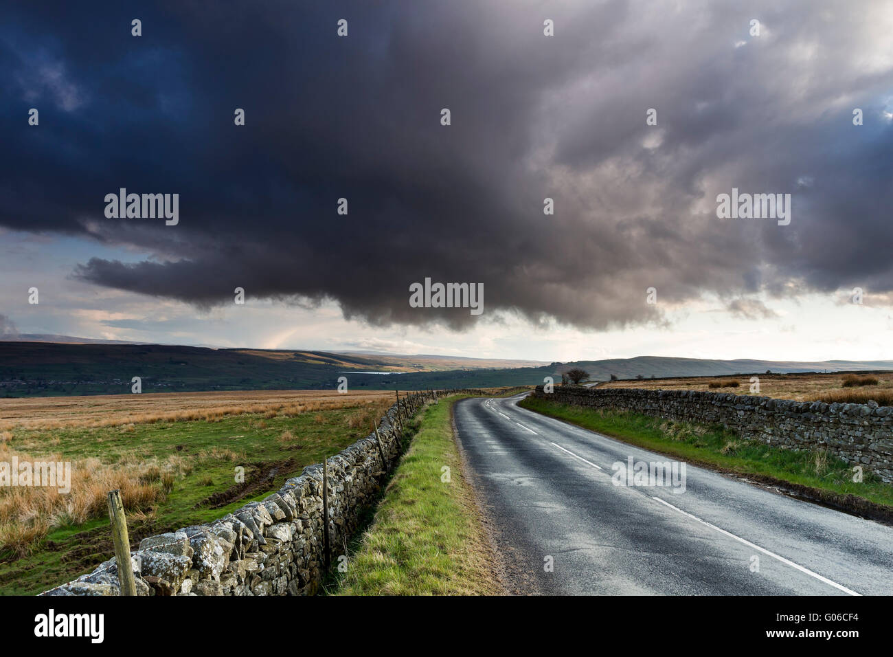 The View Across Teesdale Towards Lunedale from the Middle End Road Below Monks Moor, Teesdale County Durham, UK Stock Photo