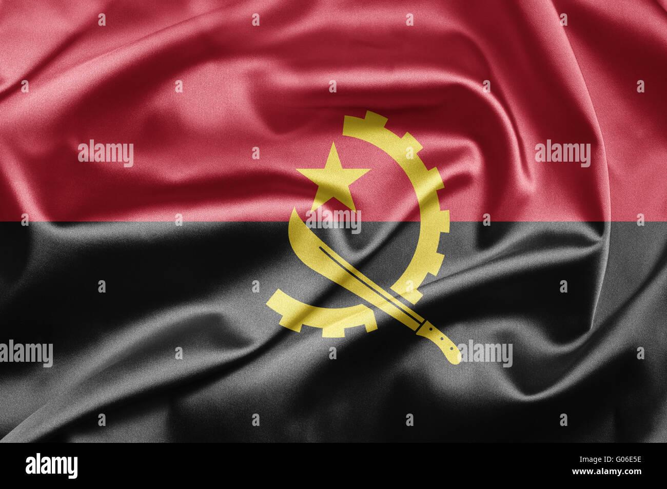 Flag of Angola - Stock Image