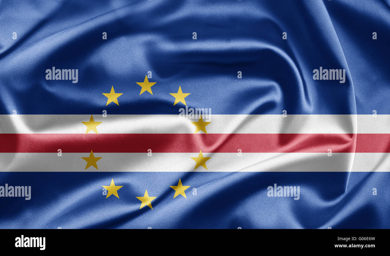 Flag of Cape Verde - Stock Image