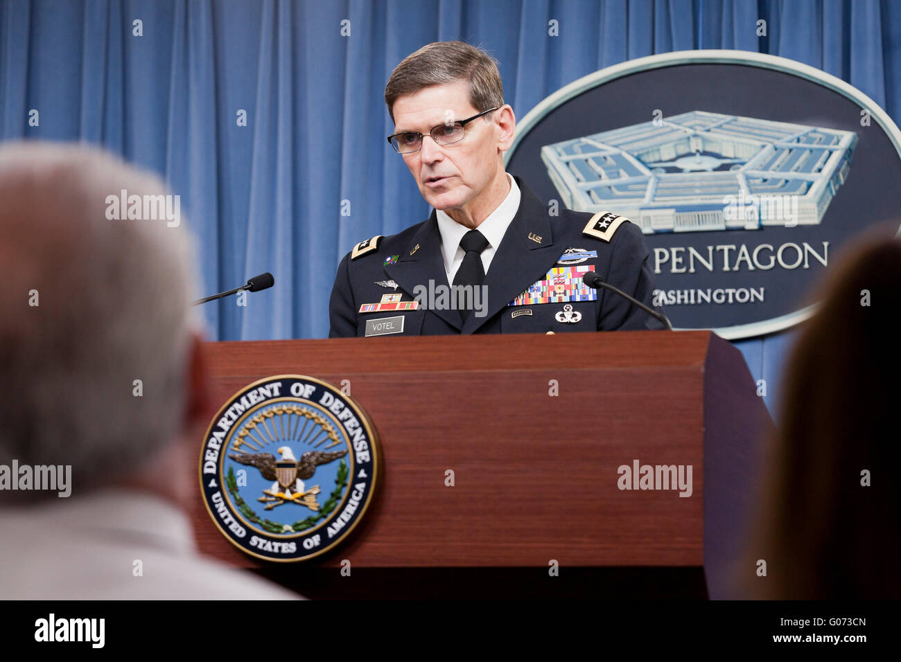 Washington, DC, USA. 29th April, 2016. Army General Joseph L. Votel, head of US Central Command, reports that the - Stock Image
