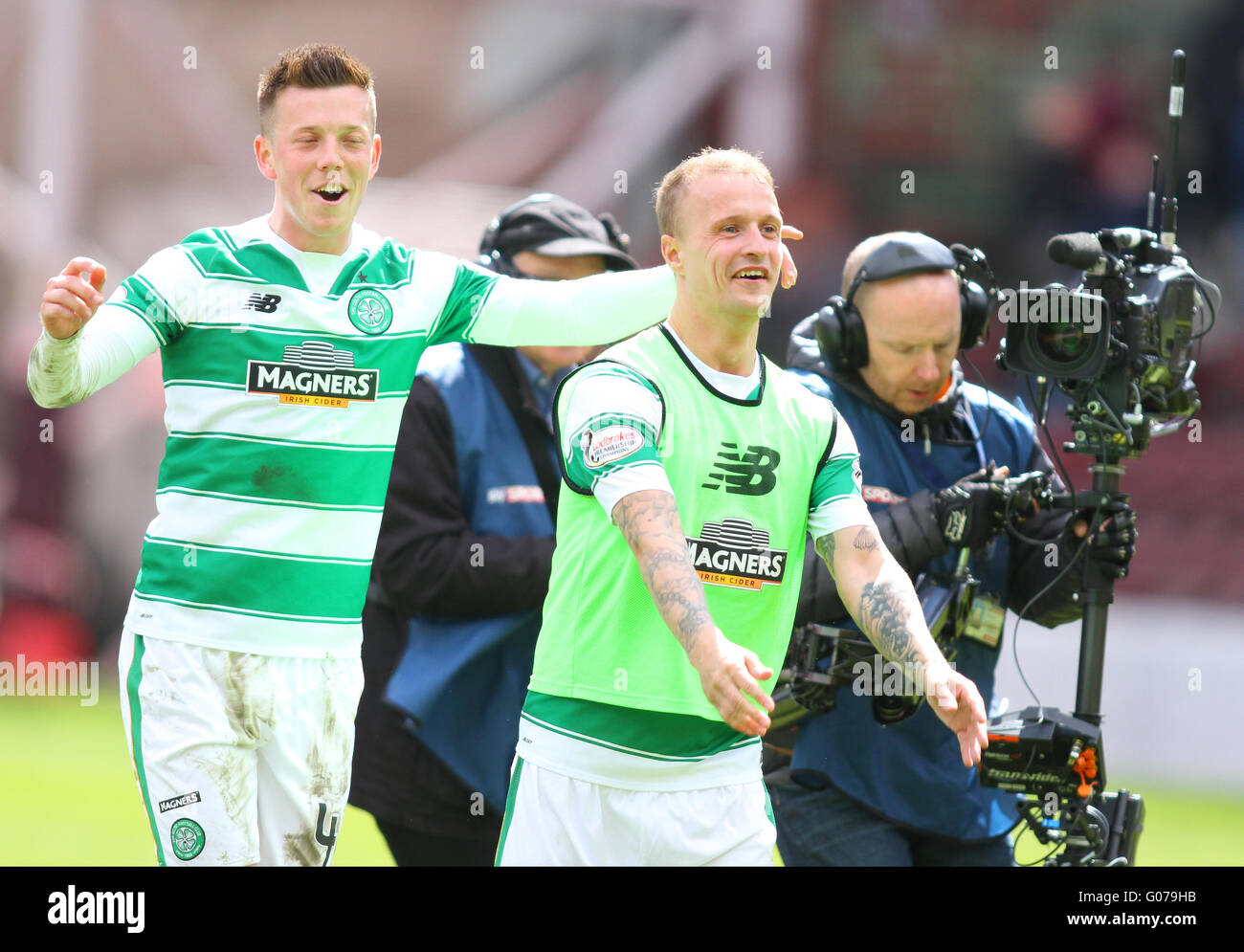 Tynecastle, Edinburgh, Scotland. 30th Apr, 2016. Scottish Premier League. Hearts versus Celtic. Callum McGregor - Stock Image