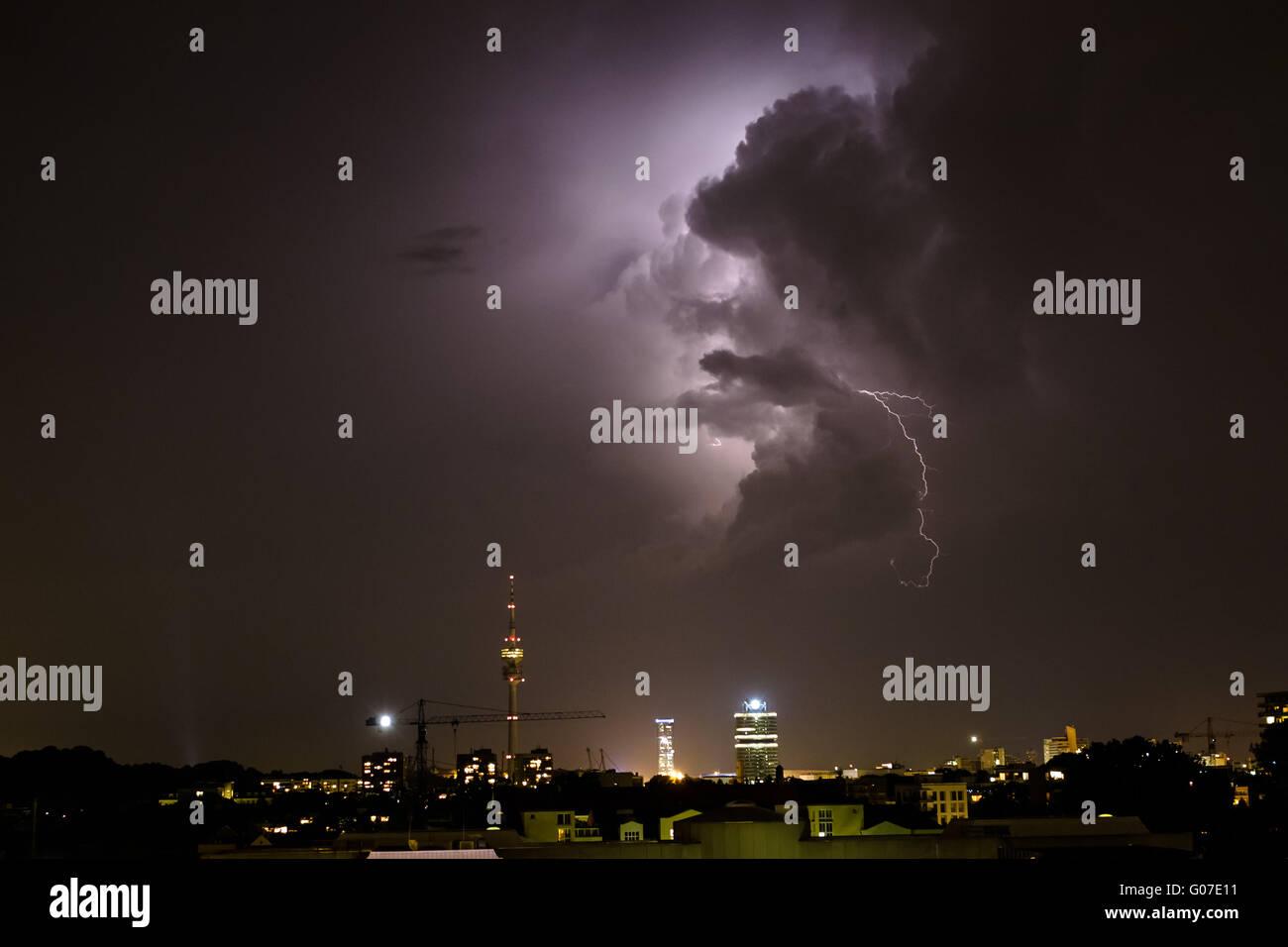 flash over munich - Stock Image