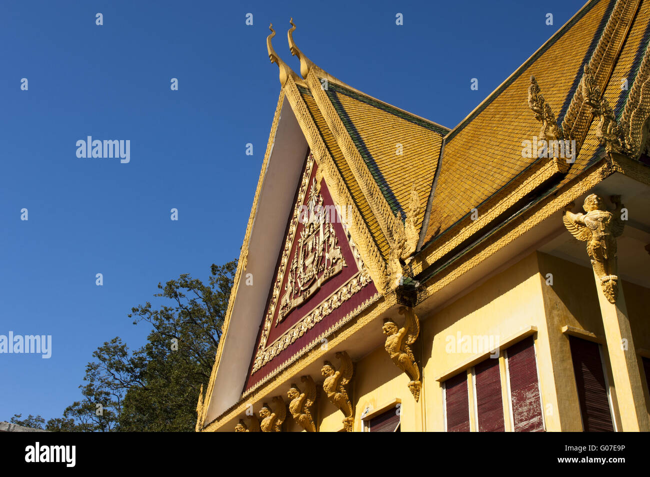 roof construction at the Throne Hall, Royal Palace Stock Photo