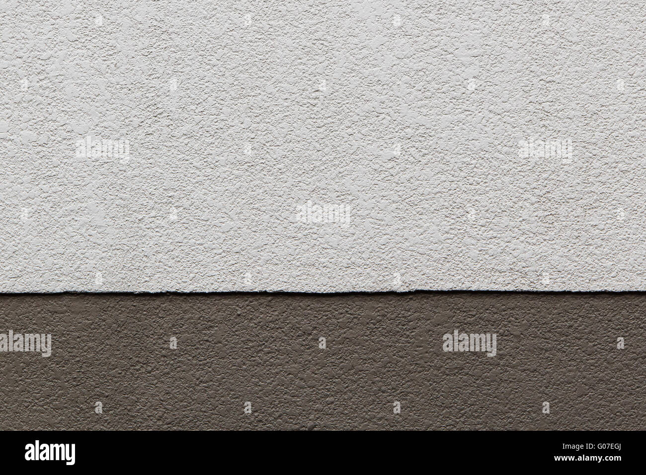 Two Tone of Brown Texture on Concrete Wall - Stock Image