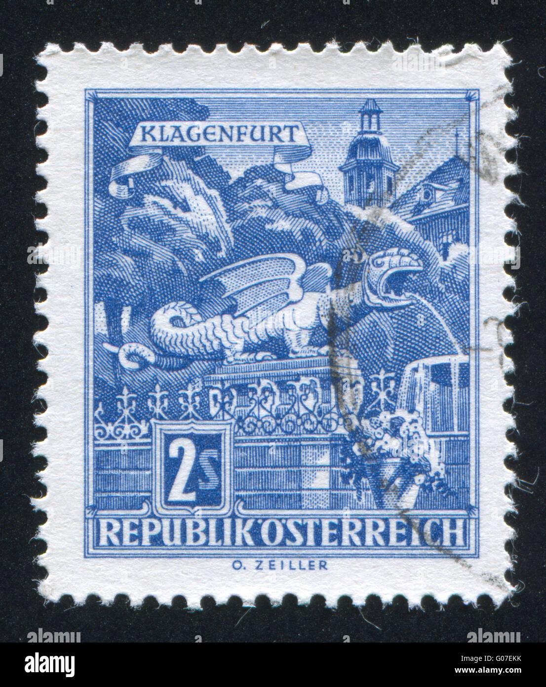 Austria stamp - Stock Image