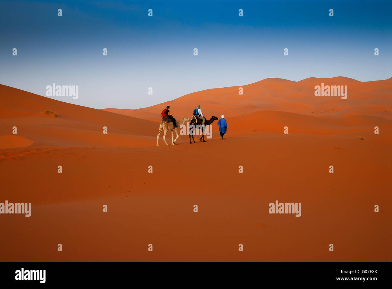 Dunes of Sahara Desert - Stock Image
