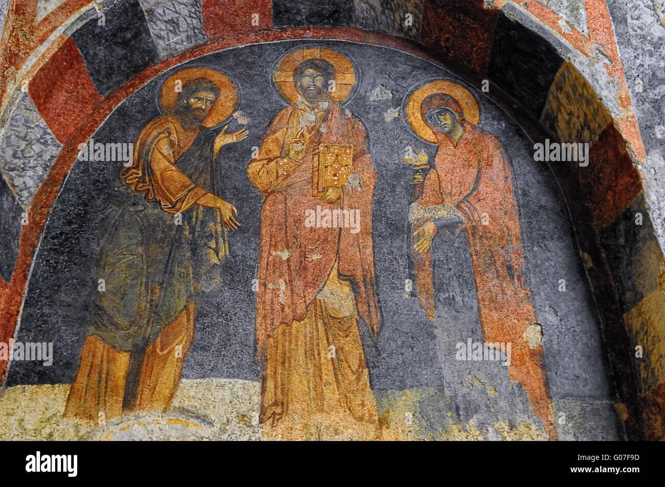 Myra Nicholas church murals of the Basilica Turkey Stock Photo