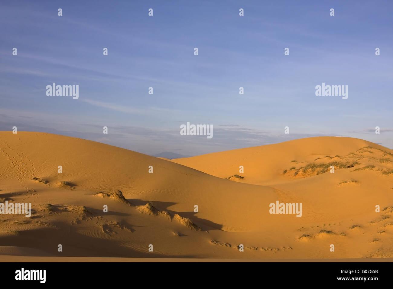 The Red Sand Dunes near Mui Ne,SouthVietnam,Southe - Stock Image