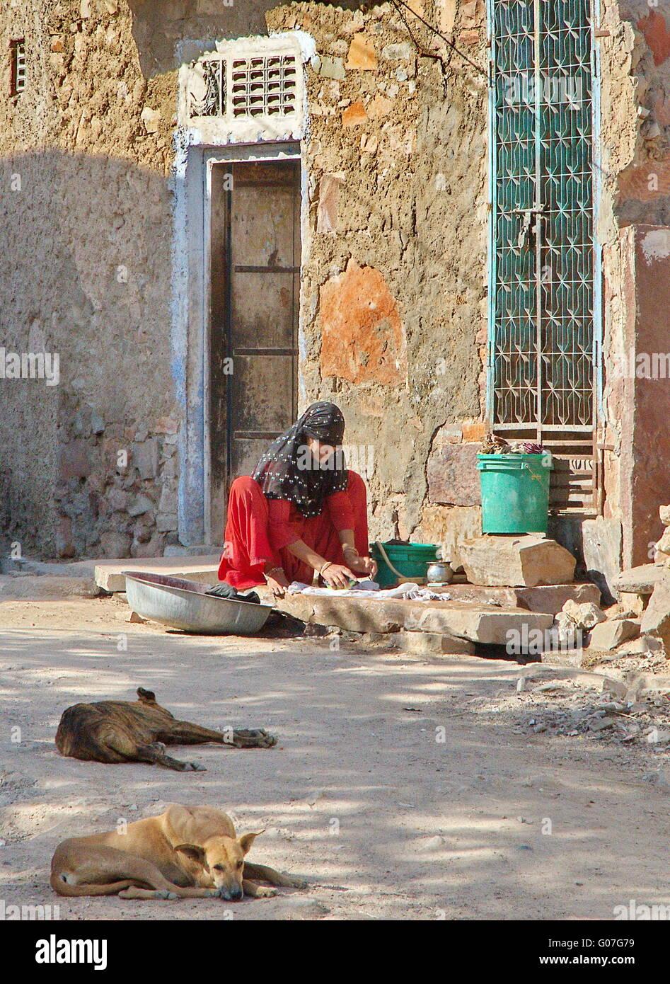 burmese village woman - Stock Image