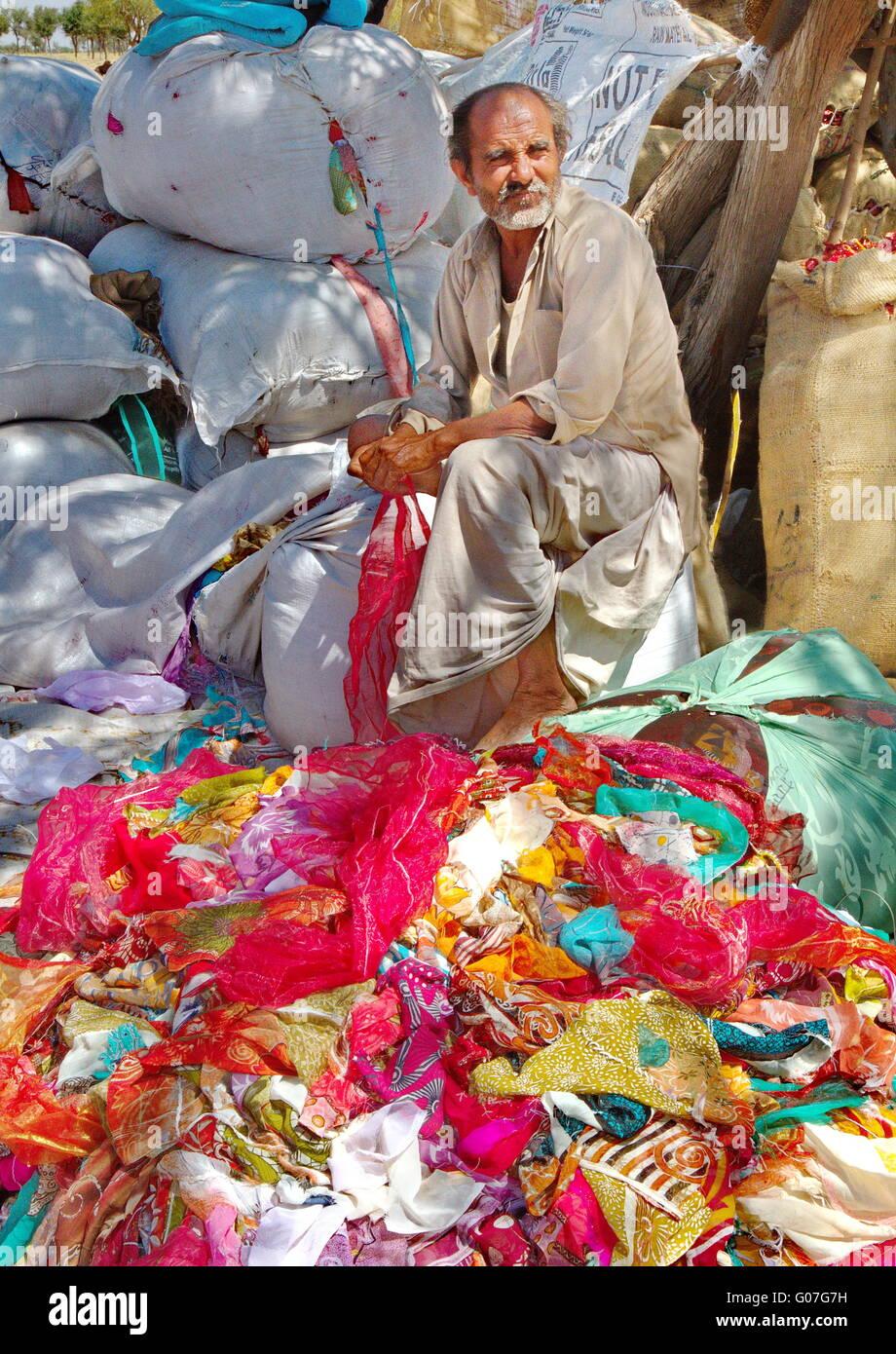 used sari salesman - Stock Image