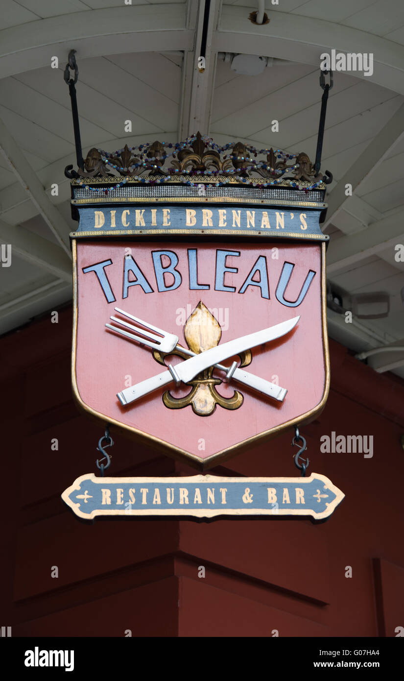 Tableau Restaurant And Bar French Quarter New Orleans Louisiana Stock Photo Alamy