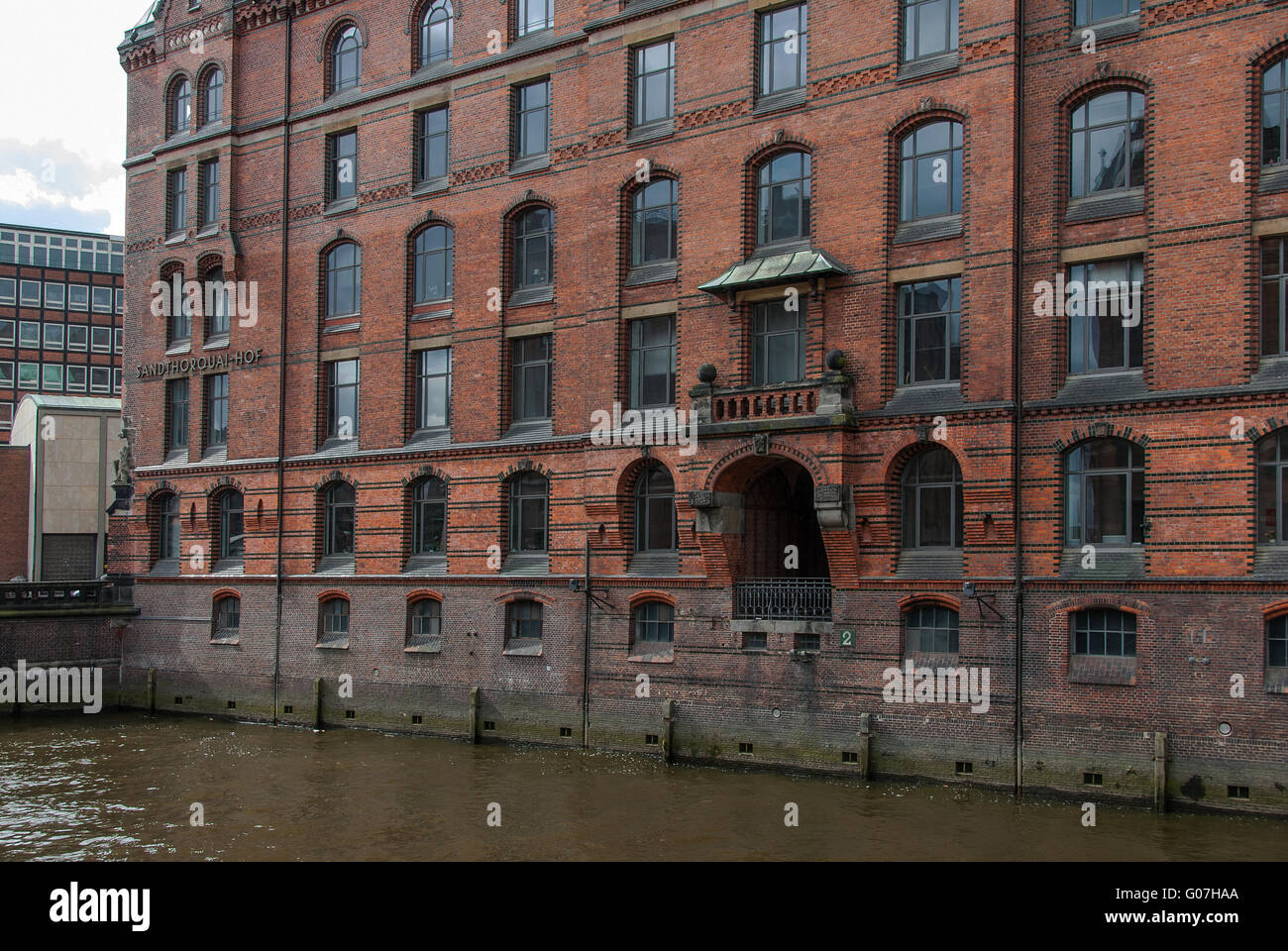 Facade of the Sandthorquaihof in Hamburg Stock Photo