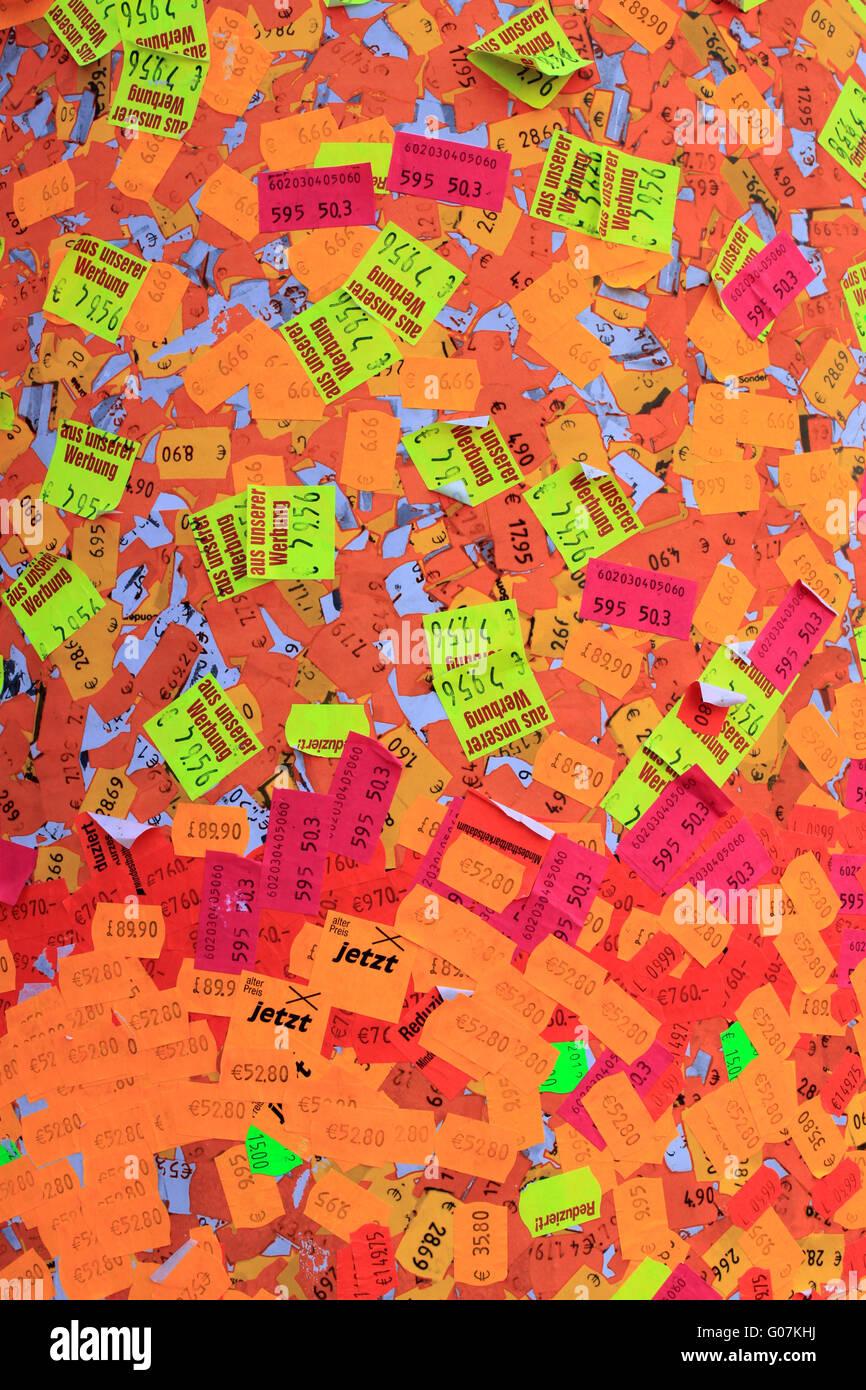 Price tags Stock Photo